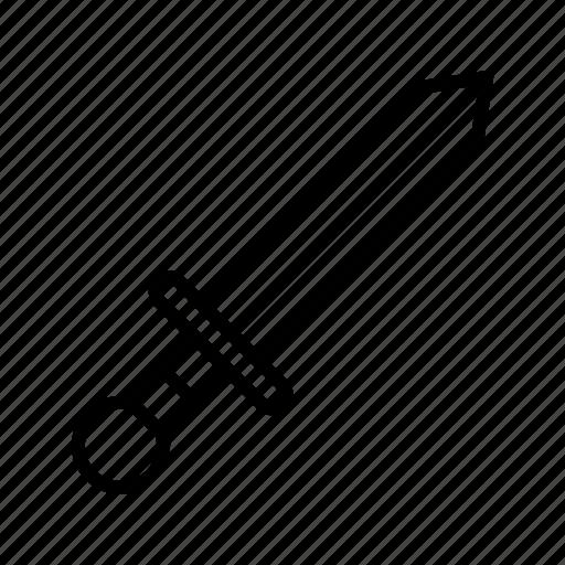 fight, knife, medieval, steel, war, warfare, weapon icon