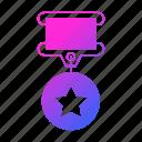 achievement, medal, prize, reward, sport, star, trophy icon