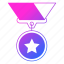 achievement, medal, prize, reward, sport, star, trophy icon