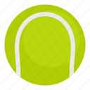 ball, circle, equipment, game, sport, tennis, white icon
