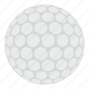 ball, circle, golf, golfing, leisure, round, white icon
