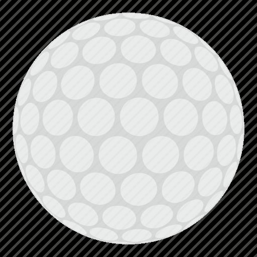 ball, circle, golf, golfing, leisure, round, white icon