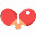 double, pingpong, bed, ball, table tennis, sport, game
