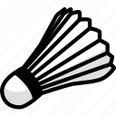 badminton, cock, fitness, game, shuttlecock, sport icon