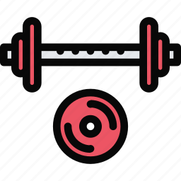 athlete, barbell, fitness, gym, sport, training icon