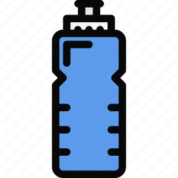 athlete, bottle, fitness, gym, sport, training, water icon