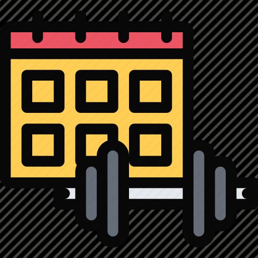 Athlete, fitness, gym, schedule, sport, training icon - Download on Iconfinder