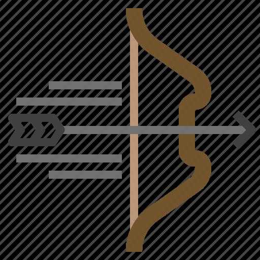 archery, arrow, arrows, bow, sports, weapon, weapons icon