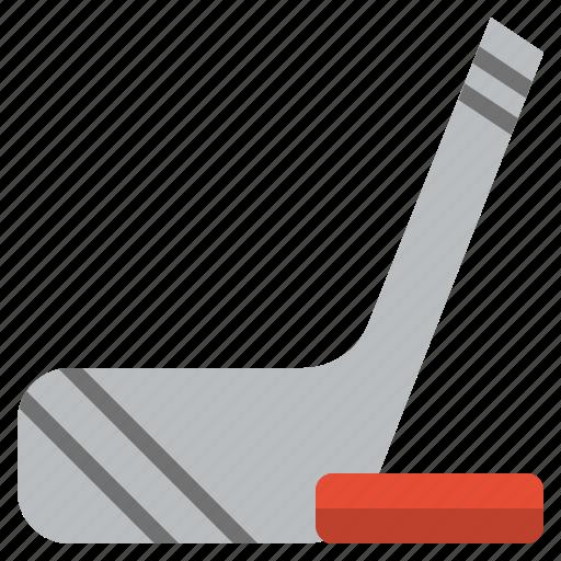 ball, equipment, fitness, hockey, sport, sports, stick icon