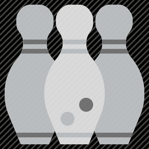 bowling, fun, game, gaming, leisure, pins, sports icon