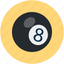 ball, black ball, pool icon