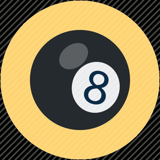 ball, black ball, pool icon