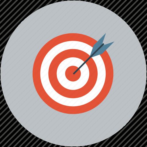 arrow, bulleye, dart, target icon