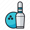 bowling, bowling ball icon