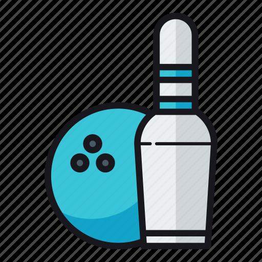 bowling, bowling ball icon