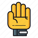 gloves, goalkeeper, goalkeeper gloves icon