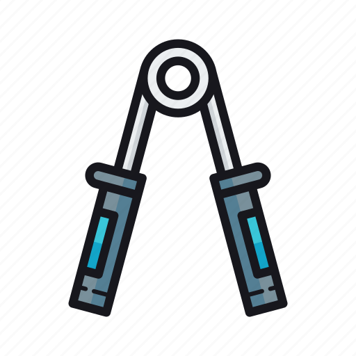 exercise equipment, hand gripper icon