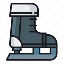 ice skate, ice skating, skates, skating, skating shoes icon