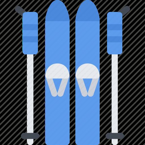 equipment, extreme, fitness, skiing, sport, training icon