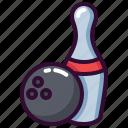ball, bowling, pin, skittle, sport