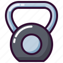 fitness, gym, kettle, kettlebell, sport, weight icon
