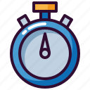 sport, stopwatch, time, timer icon