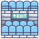 bleachers, exit, grandstand, seats icon