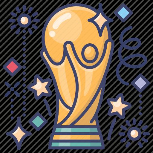 champion, cup, football, world icon