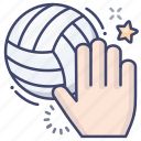 volleyball, ball, sport