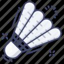 shuttlecock, badminton, sport