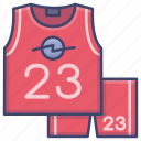 basketball, jersey, team icon