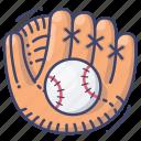 baseball, glove, sport, hardball