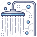 bath, bathroom, shower icon