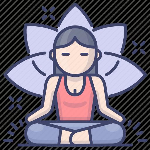 Fitness, meditation, retreat, yoga icon - Download on Iconfinder