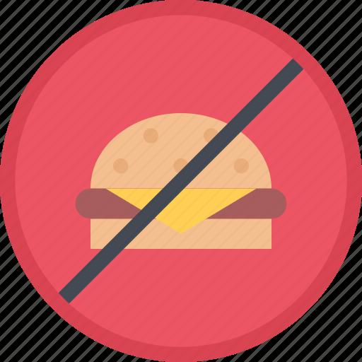 fast, fitness, food, gym, no, sports, training icon