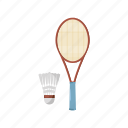badminton, cartoon, feather, fun, play, shuttlecock, sport icon