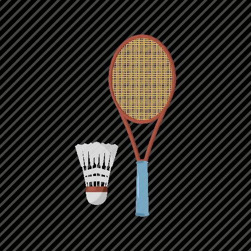 badminton, cartoon, feather, fun, play, shuttlecock, sport icon