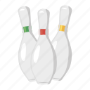 bowl, bowling, cartoon, game, pin, sport, tenpin icon