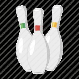 bowl, bowling, cartoon, game, pin, sport, tenpin icon
