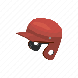 baseball, cartoon, equipment, helmet, protect, protection, sport icon