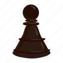 cartoon, chess, game, leisure, pawn, strategy, success icon