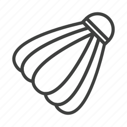 badminton, ball, shuttle cock, sport icon