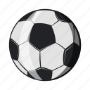 ball, cartoon, football, object, sign, soccer, sport icon