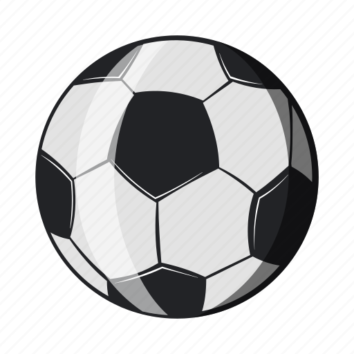 ball, cartoon, football, object, sign, soccer, sport icon