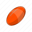 ball, cartoon, game, object, rugby, sign, sport icon