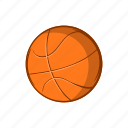 ball, basketball, cartoon, game, object, sign, sport icon
