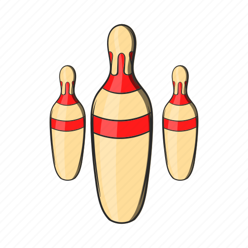 bowling, cartoon, game, object, sign, skittles, sport icon