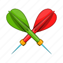 cartoon, dart, game, object, sign, style, target icon