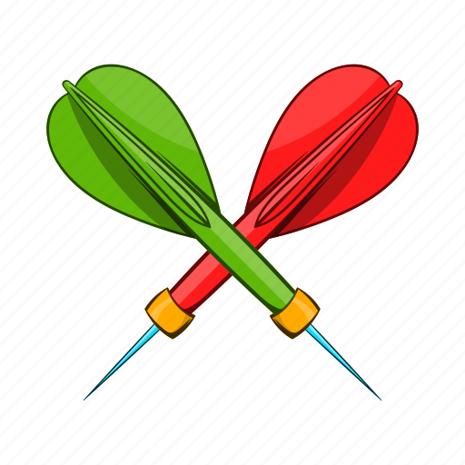 Cartoon, dart, game, object, sign, style, target icon - Download on Iconfinder