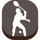 badminton, ball, outdoor game, play, preferences, sport, training icon